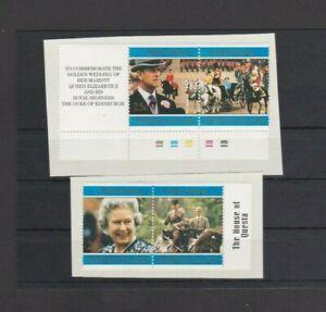 Norfolk Island 1997 Golden Wedding set  MH hinged part album page per Scan