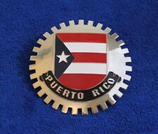 Flag of Puerto Rico Grille Badge Bumper License Topper Accessory Bumper Bar