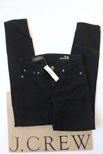 """NWT J Crew 8"""" Toothpick Jean in Black Sz 24 B1281"""