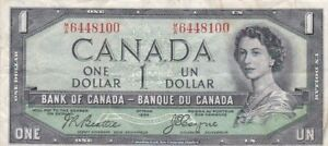 1954 Canada $1 Demon's Face Note, Pick 66b