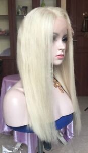 "Stock Full Lace European #60 Straight Human Hair Wig 16"" 150% Density"