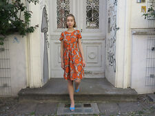 Sommerkleid Kleid Minikleid orange beige 60er True VINTAGE 60s women dress