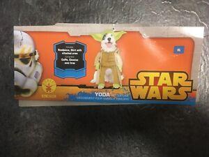 Lustiges Yoda Hundekostüm Gr.XL von Rubies