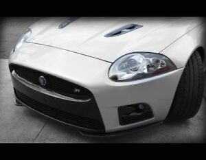 Jaguar XK & XKR Carbon Fiber Front Bumper Apron Upgrade Styling Kit 2012-2014