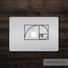 Fibonacci Spiral - Mac Apple Logo Cover Laptop Vinyl Decal Sticker Math Golden