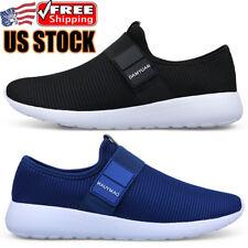Comfortable Men's Lightweight Slip on Sneakers Walking Running Tennis Shoes Gym