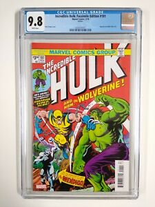 Incredible Hulk 181 (Marvel) CGC 9.8 White Pages Facsimile Edition Reprint 180 1