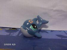 Littlest Pet Shop Blue Dolphin with Sea Foam Green Eyes #1603
