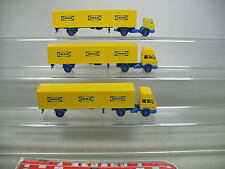 af217-0, 5 #3X Wiking H0 Truck / Lorry/Trailer Truck Mercedes-Benz MB IKEA, MINT
