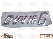 MONOGRAMME couleur CHROME pour coffre de Citroen DYANE 6  -495-