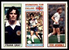 Topps Football 1981 Blue 32. Gray / 168. Kenny Sansom / 104. Archibald