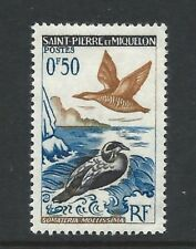 St Pierre et Miquelon 1963 Birds 50c Stamp lightly hinged mint