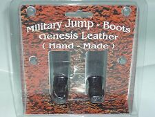 """1/6 TOY MILITARY SOLDIER JUMP BOOTS GENESIS LEATHER (HAND-MADE) SHOE - BROWN 12"""""""