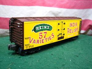 K-Line Heinz 57 India Relish Woodside Refrigerator Reefer Car K642-5202 NIB New
