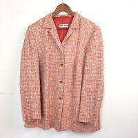 Gerry Weber Orange Tweed Blazer Jacket Womens Size 22 UK