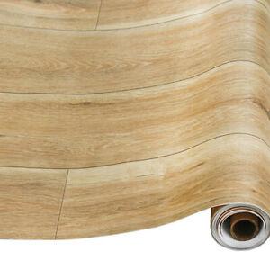 Wood Plank Wallpaper Self Adhesive Wall Stickers Vinyl Furniture Wrap Bedroom