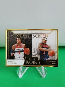 2020-21 Noir Split Screen FOTL SP /11 #285 Bradley Beal Russell Westbrook R6220J