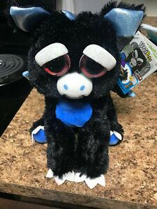 ~Feisty Pets Francisco Flamefart Plush Black &Blue Dragon NEW with Tags Horror