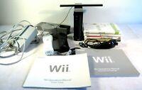 Nintendo Wii RVL-001 Black Bundle Lot Games Console Controller Gamecube Tested