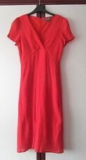 Lovely Red Short-Sleeved Dress by Fever London - Size 12 - Excellent Condition