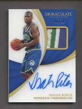 2018-19 Immaculate Gold Acetate Isaiah Rider AUTO Patch 6/10 Timberwolves