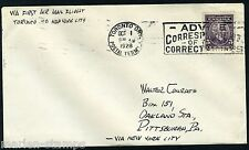 CANADA FIRST FLIGHT COVER TORONTO 10/1/28 TO PITTSBURGH VIA MONTREAL & ALBANY
