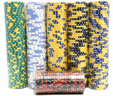 500 Piece Poker Chips Set Blackjack Composite Clay 11.5g Assorted-High Quality