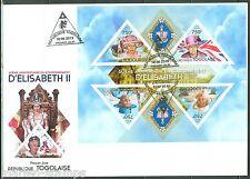 TOGO  2013 60th  ANNIVERSARY OF THE  CORONATION QUEEN ELIZABETH  II SHEET   FDC