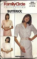 3692 UNCUT Vintage Butterick Sewing Pattern Misses Loose Fitting Blouse OOP SEW