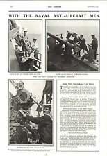1916 Naval Antiaircraft Guns Western Front Archibald