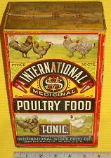RARE! c.1915 Beautiful M.W. Savage International Stock Food Box~ Dan Patch Promo