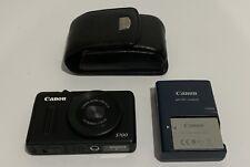 Canon PowerShot S100 12.1MP Digital Camera - Black + Lowepro Case SCREEN BROKE
