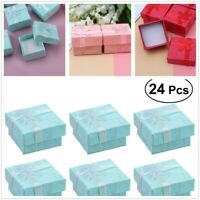 24X Jewellery Gift Boxes Bag Ring Earring Necklace Display Wholesale Pack Box