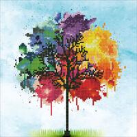 Diamond Painting Kit Dotz DIAMOND ART - RAINBOW TREE 30 x 30 cm of Life