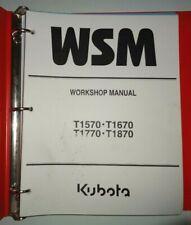 Kubota T1570 T1670 T1770 T1870 Lawn Garden Tractor  Workshop Service Manual