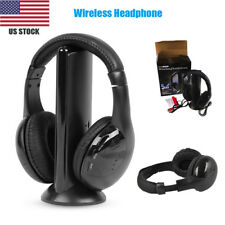 Wireless Headphone Casque Audio Sans Fil Ecouteur Hi-Fi Radio FM TV MP3 MP4 DG
