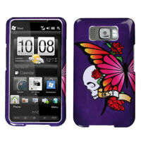 For HTC HD2 Best Friend Purple Phone Protector Case Cover