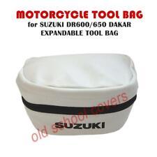 Suzuki DR600 DR650 Dakar Erweiterbar Weiß Nachbildung Werkzeug Tasche