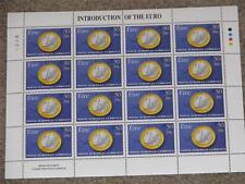 Ireland Introduction to the Euro, Scott# 1179, Mini Sheet MNH