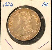 1826 Us Silver Capped Bust Half Dollar 50c Au