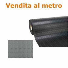 Pavimento bullonato pvc copripavimento bolli tappeto larg 1 mt nero/grigio