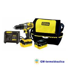 Trapano Avvitatore a Percussione Stanley Fatmax 18V Borsa e 2 Batterie FMC625M2S