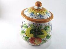 Portaaglio contenitore portaoggetti barattolo in ceramica di Caltagirone h 20 cm