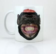 Monkey Brains - 11 oz Ceramic Coffee Cup Mug - Chilled Brain Fuel Bulletproof