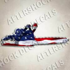 Chainsaw American Flag Sticker Window Decal for Stihl Husqvarna Jonesred Poulan