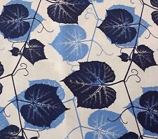 Impressions Fall 2011 Ivy by Ty Pennington BTY Large Navy & Blue Ivy on White