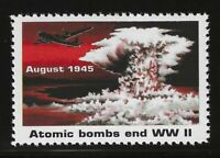 """ATOMIC BOMB ENDS WWII - 1995 U.S. POSTAGE """"STAMP"""" (TYPE 1) - MINT CONDITION"""