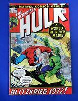 INCREDIBLE HULK #155 COMIC BOOK 1st App The Shaper Of Worlds ~ 1972 MARVEL ~ VF