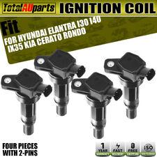 4x Ignition Coils Pack for Hyundai Elantra Kia Cerato Rondo i30 ix35 1.8L 2.0L