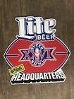 Miller Lite Beer ~ Super Bowl XXVI - Official Headquarters (1990) NFL METAL SIGN